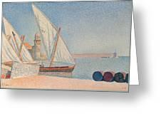 Collioure Les Balancelles Greeting Card by Paul Signac