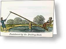 Colonial Ducking Stool Greeting Card by Granger