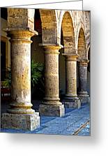 Colonnades Greeting Card by Olden Mexico