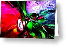 Color Carnival Abstract Greeting Card by Alexander Butler