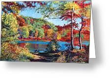 Color Rich Harriman Park Greeting Card by David Lloyd Glover