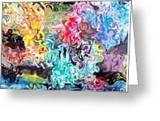 Color Splash Greeting Card by Katina Cote