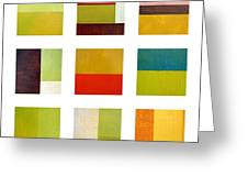 Color Study Abstract Collage Greeting Card by Michelle Calkins