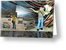 Colorado-california Art Book Cover Greeting Card by Glenn Bautista