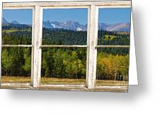 Colorado Indian Peaks Autumn Rustic Window View Greeting Card by James BO  Insogna