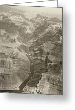 Colorado River And Grand Canyon In Monochrome Greeting Card by M K  Miller