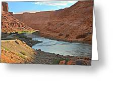 Colorado River Canyon 1 Greeting Card by Marty Koch