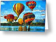 Colorado Springs Hot Air Balloons Greeting Card by Nikki Marie Smith