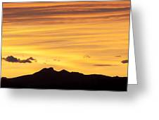 Colorado Sunrise Landscape Greeting Card by Bronze Riser