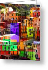 Colored Windows Greeting Card by Stefan Kuhn