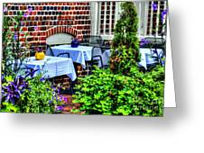 Colorful Dining Greeting Card by Debbi Granruth