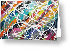Colorful Disaster Aka Jeremy's Mess Greeting Card by Jeremy Aiyadurai