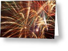 Colorful Fireworks Greeting Card by Garry Gay
