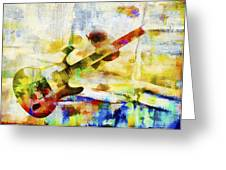 Colorful Music Greeting Card by David Ridley
