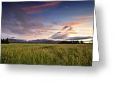 Colorful Sunset Over The High Peaks Wilderness In Adirondack Park - New York Greeting Card by Brendan Reals