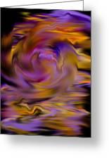 Colourful Swirl Greeting Card by Hakon Soreide