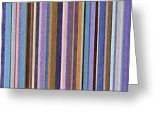 Comfortable Stripes Ll Greeting Card by Michelle Calkins
