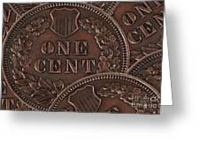 Common Cents Greeting Card by Dan Holm