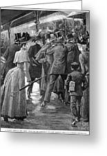 Commuter Rush Hour, 1890 Greeting Card by Granger