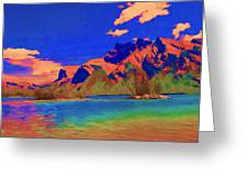 Complementary Mountains Greeting Card by Jo-Anne Gazo-McKim