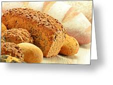 Composition With Bread And Rolls Greeting Card by T Monticello