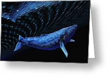 Computer Artwork Of A Humpback Whale Greeting Card by Victor Habbick Visions