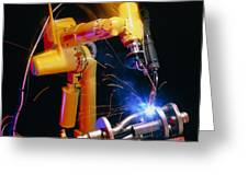 Computer-controlled Arc-welding Robot Greeting Card by David Parker, 600 Group Fanuc