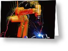 Computer-controlled Electric Arc-welding Robot Greeting Card by David Parker, 600 Group Fanuc