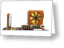 Computer Motherboard, Artwork Greeting Card by Pasieka