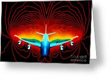 Computer Simulation Of Airplane Flight Greeting Card by Nasa