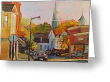 Concord Afternoon Greeting Card by Laurie G Miller