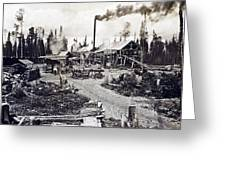 Concord New Hampshire - Logging Camp - C 1925 Greeting Card by International  Images