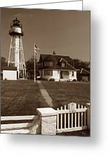 Coney Island Lighthouse Greeting Card by Skip Willits