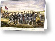Confederate Generals Greeting Card by Granger