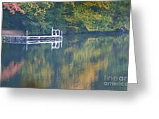Connecticut Autumn Reflections Greeting Card by Cindy Lee Longhini