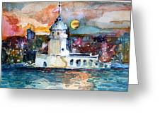 Constantinople Turkey Greeting Card by Mindy Newman