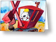Construction Dogs 2 Greeting Card by Scott Nelson