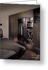 Contemporary Bedroom Greeting Card by Robert Pisano