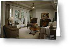 Contemporary Sitting Room Greeting Card by Robert Pisano