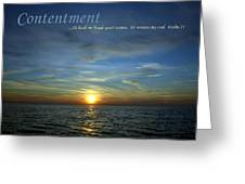 Contentment Greeting Card by Michelle Calkins