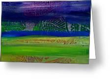 Cool Colors In A Horizontal Rush Greeting Card by Samar Asamoah