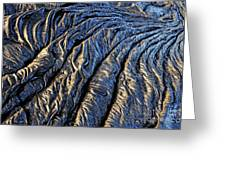 Cooled Pahoehoe Lava Flow Greeting Card by Sami Sarkis