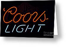 Coors Light Greeting Card by Juls Adams