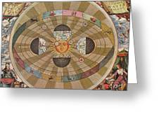 Copernican World System, 17th Century Greeting Card by Science Source