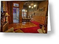 Copper King Mansion 2nd Floor Landing - Butte Montana Greeting Card by Daniel Hagerman