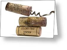 Cork Of French Wine Greeting Card by Bernard Jaubert