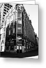 Corner Building Greeting Card by Kevin Gilchrist