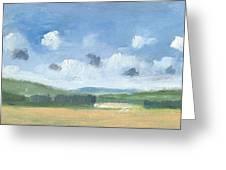 Cornfields Near Brading Greeting Card by Alan Daysh
