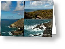 Cornwall North Coast Greeting Card by Brian Roscorla