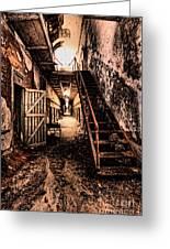 Corridor Creep Greeting Card by Andrew Paranavitana